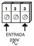 Bornas de alimentación del cuadro clas 16.1