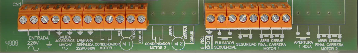 Regleta de conexión del cuadro clemsa clas 12