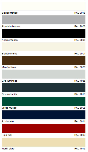 Gama de colores Hormann