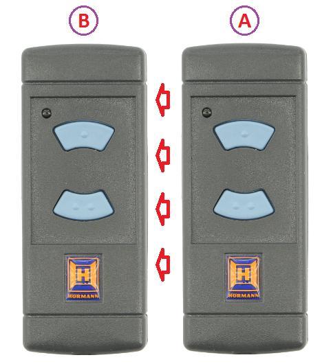 Memorización del mando de garaje HSE2 868