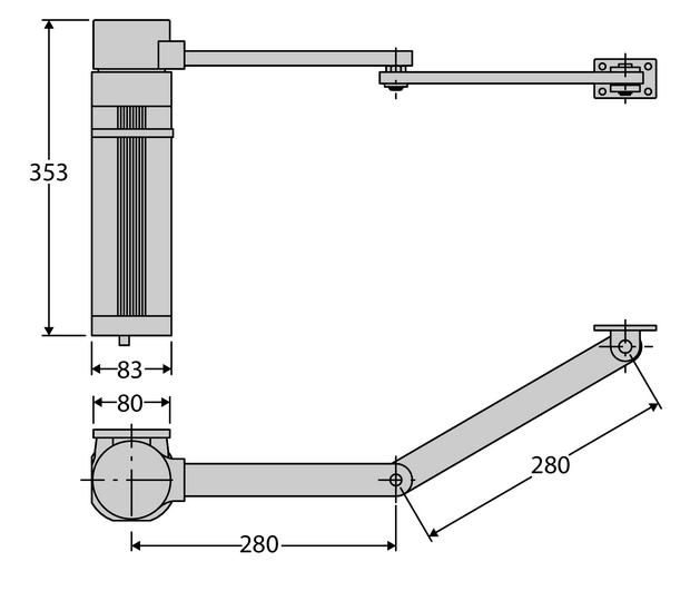 motor batiente BFT E5