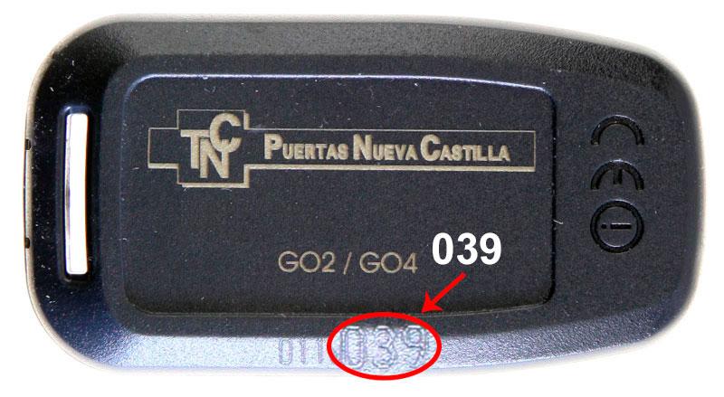 Mando garaje NUEVA CASTILLA Go 4