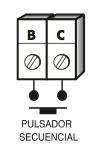 Regleta de conexión para pulsador adicional