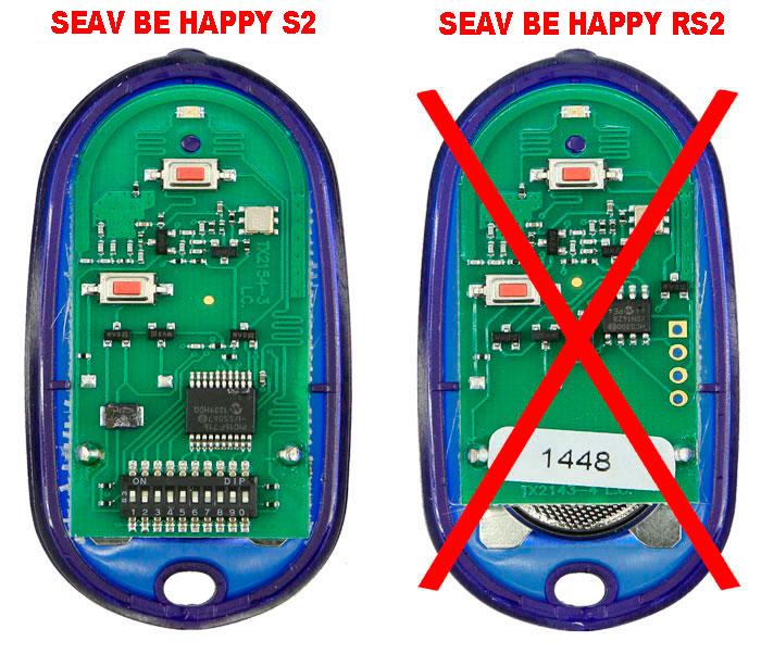 Mandos SEAV Be Happy S2 y Be Happy RS2