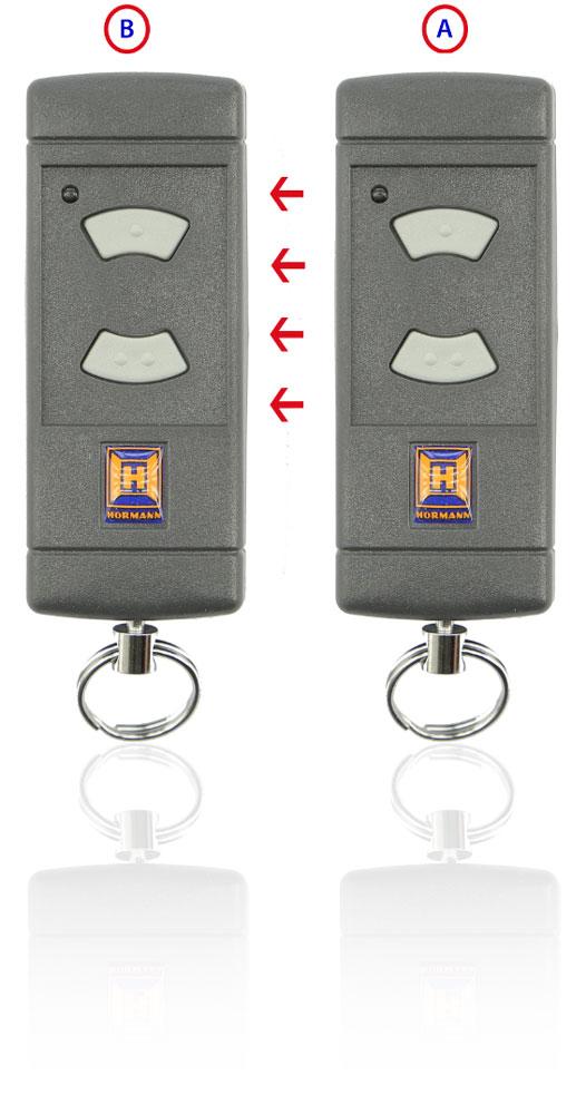 Memorización del mando de garaje HSE2 40