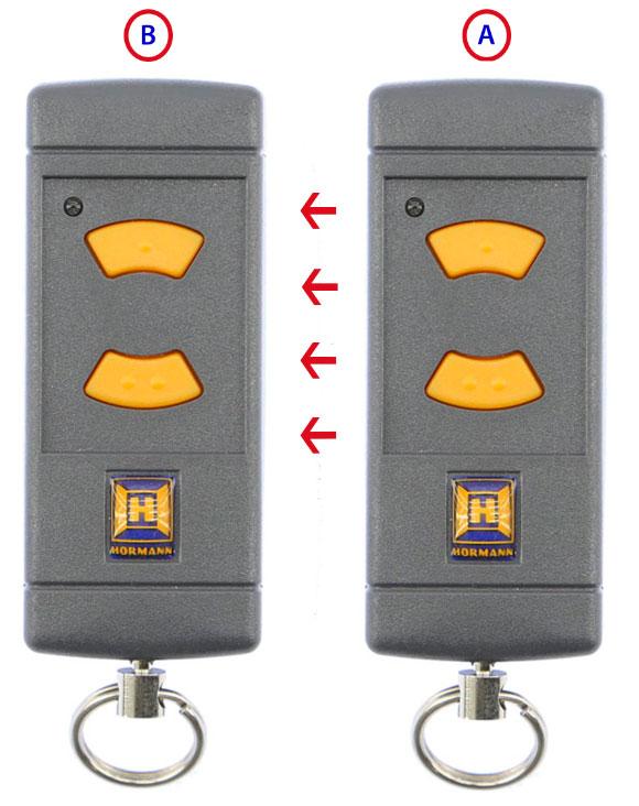 Memorización del mando de garaje HSE2 433