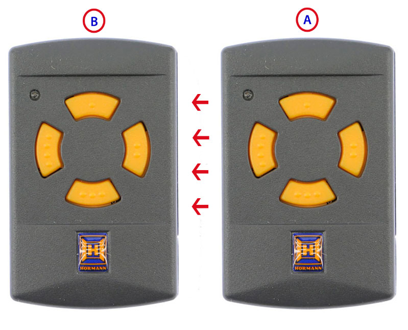 Memorización del mando de garaje HSM4 433MHz