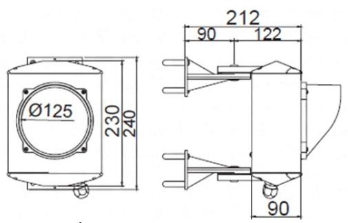Dimensiones del semáforo